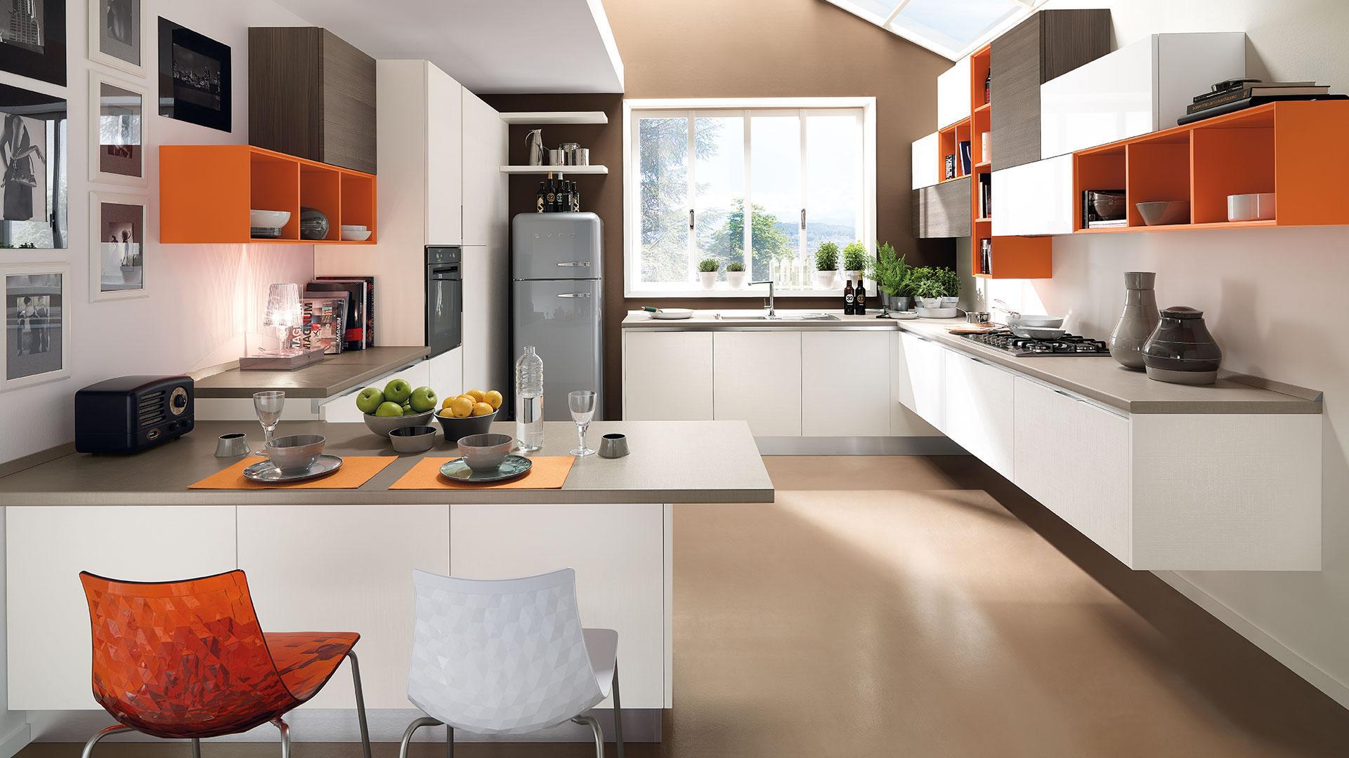 I vantaggi della cucina con penisola cucine padova - Cucina con penisola ...