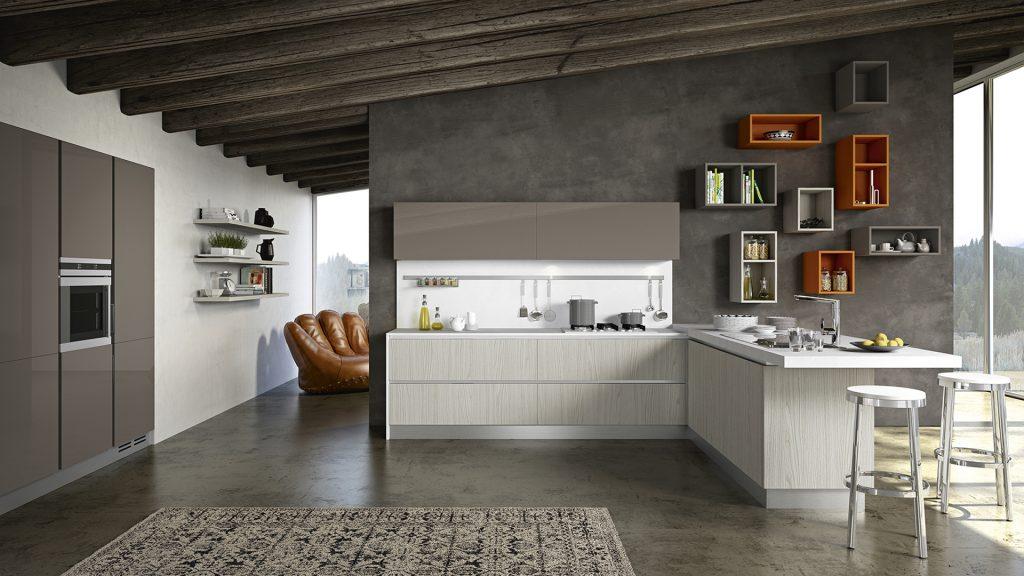 cucina moderna penisola i like m