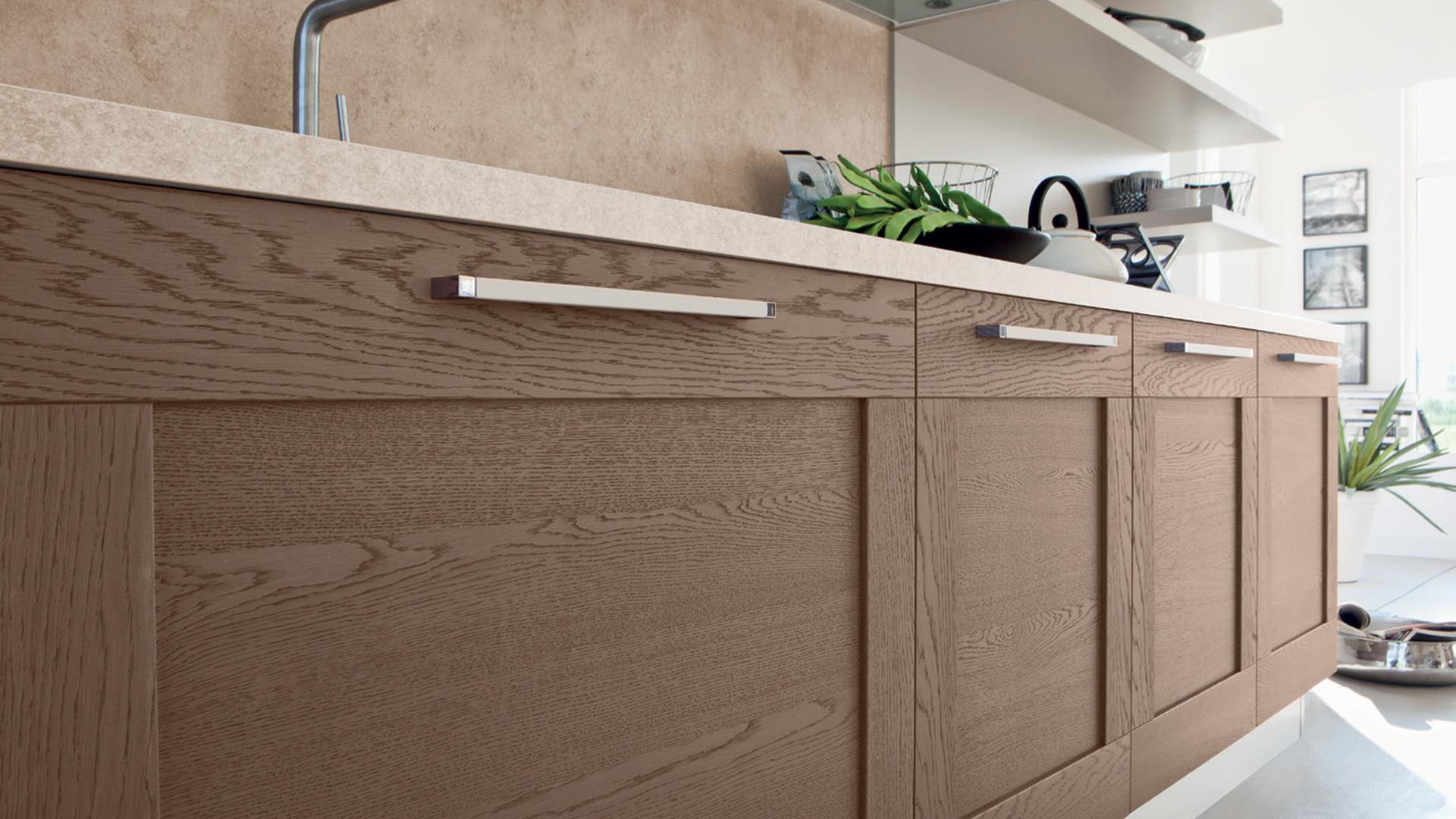 Il fascino dell anta a telaio cucine padova - Ante in legno per cucina ...