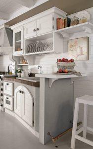 cucina bianco-rustico