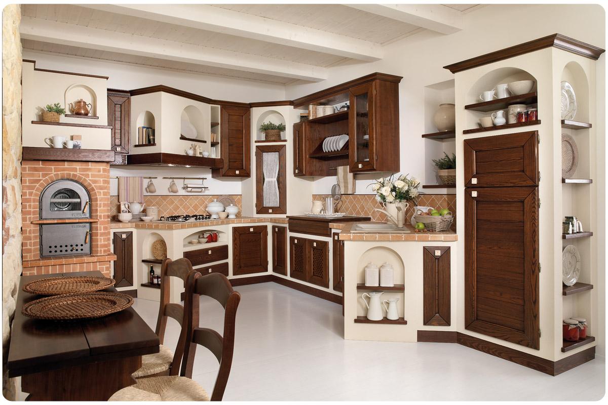 Cucine rustiche cucine padova - Cucina country in muratura ...