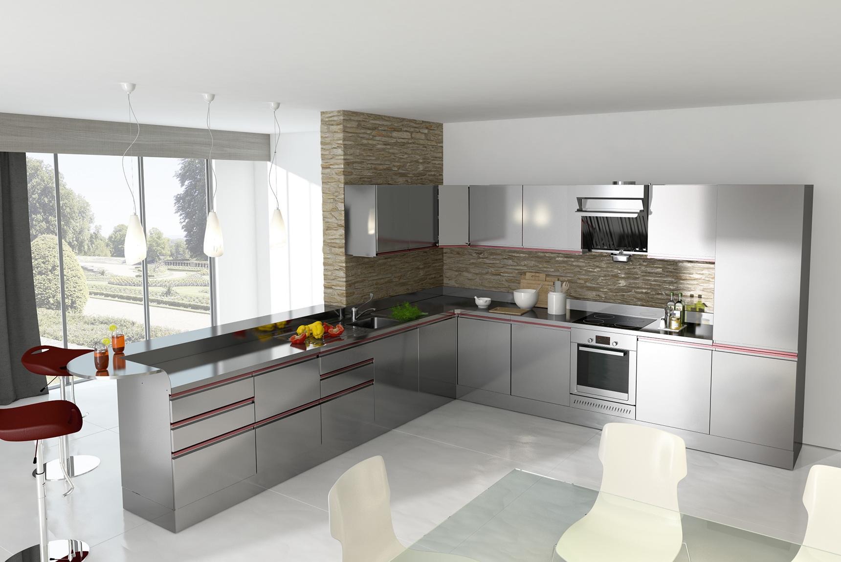 Cucine industriali da casa rf29 regardsdefemmes - Cucine professionali da casa ...